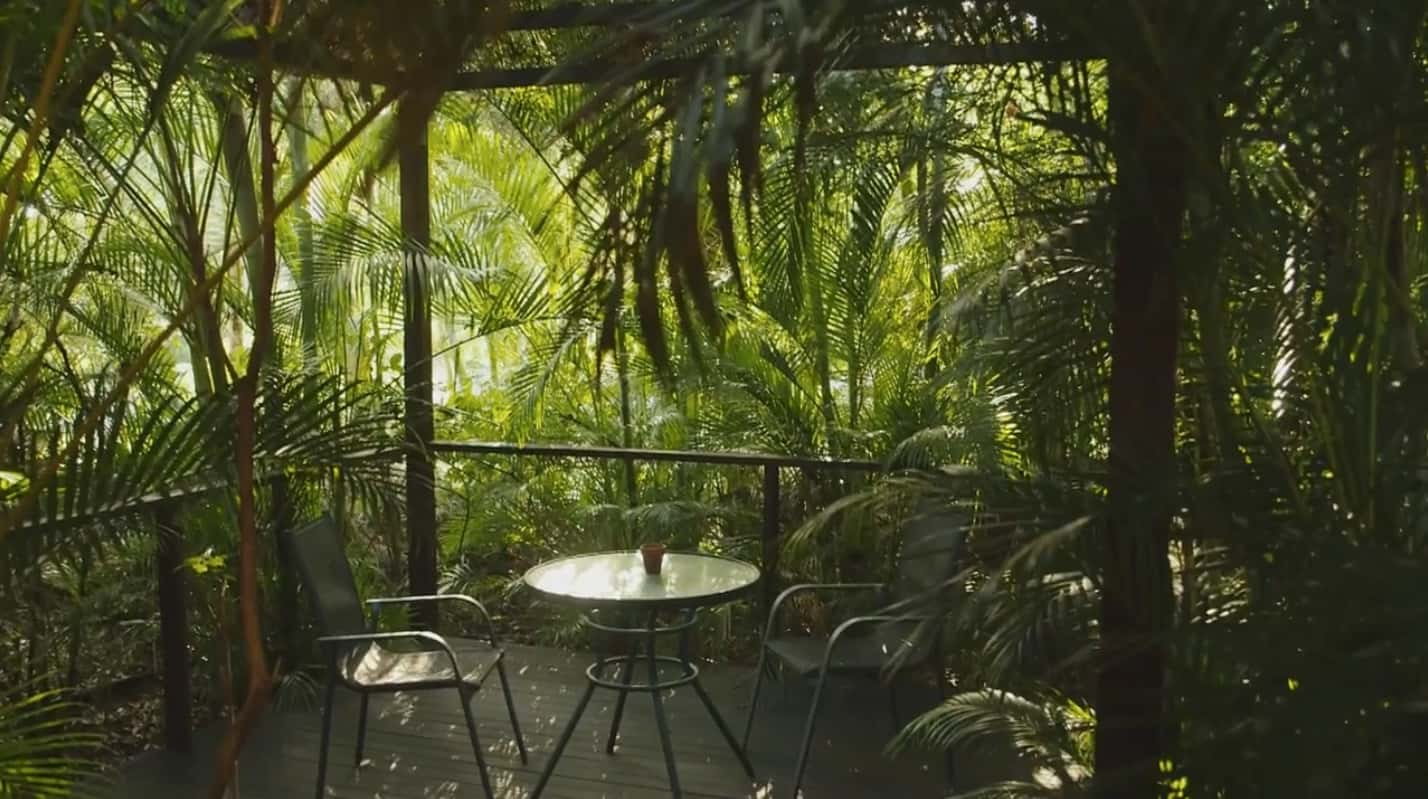 Relax at the back at Sunbird Gardens