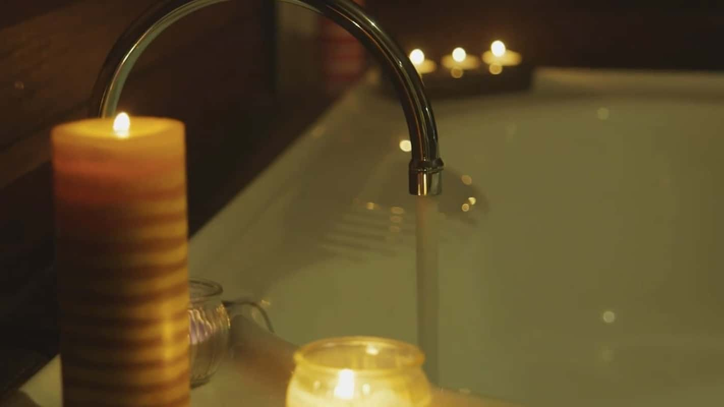 Spa up close with candles at Sunbird Gardens